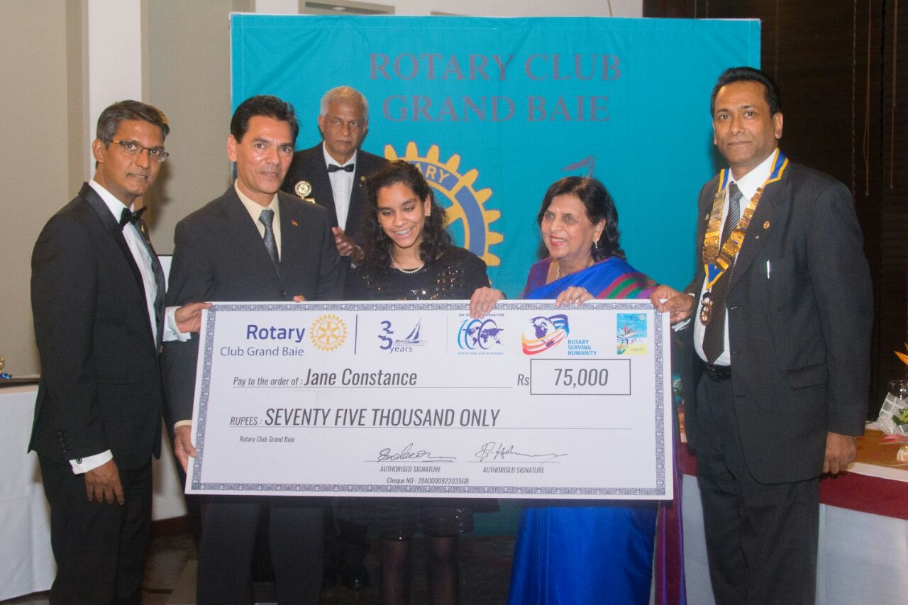 Rotary Grand Bay rewards Jane Constance